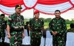 Kasum TNI dan Bupati Bima (Paling kanan)
