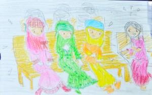 Cerita Mela_Ikal, Ratih dan Putri dalam Bis khusus