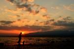 Sunset di Wadumbolo Kota Bima