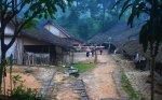 Kampung Baduy pagi hari